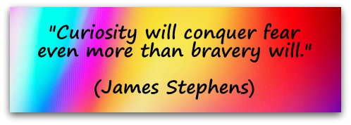 """Curiosity will conquer fear even more than bravery will."" (James Stephens)"