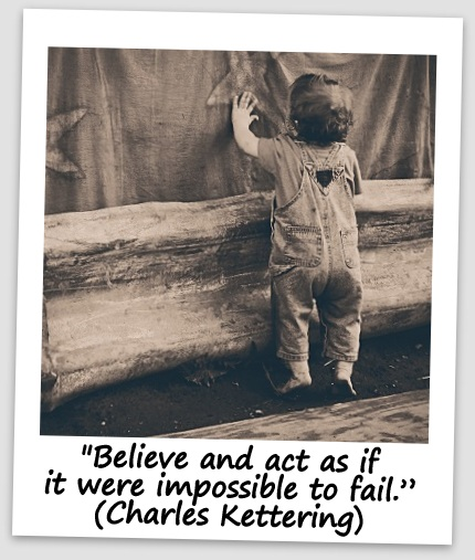 """Believe and act as if it were impossible to fail."" (Charles Kettering)"