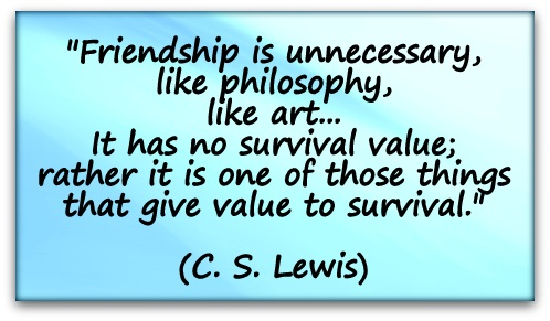 Cs Lewis Quote About Friendship New C S Lewis  Coaching Confidence